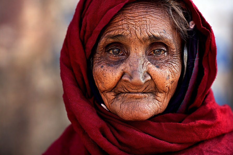 Red by Alessandro Bergamini - People Portraits of Women ( alessandro bergamini red gujarat india,  )