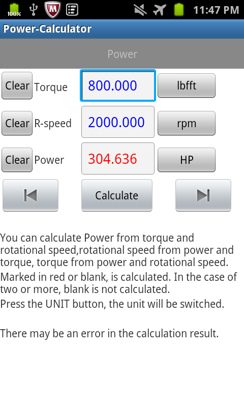 Power-Calculator- screenshot
