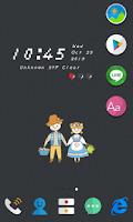 Screenshot of Cutout LINE Launcher theme