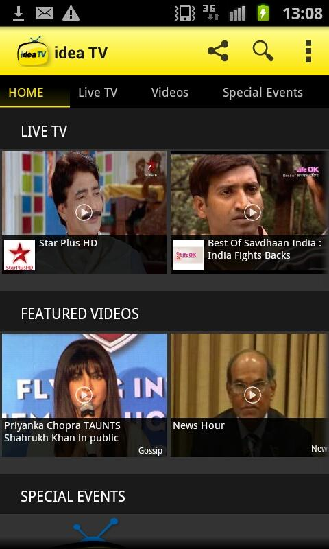 IDEA Mobile TV Live TV - screenshot