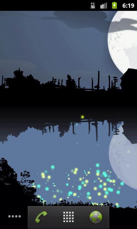 Fireflies Free Live Wallpaper- screenshot