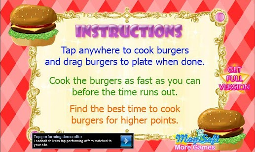 Hot Burger Maker Demo - screenshot thumbnail