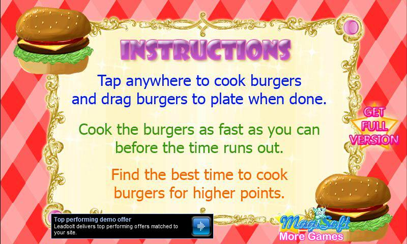 Hot Burger Maker Demo - screenshot