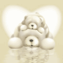 Cute White Teddy Bears Live Wa logo