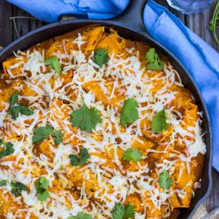 Veggie Enchiladas with Pumpkin Enchilada Sauce {gluten free + vegan}.