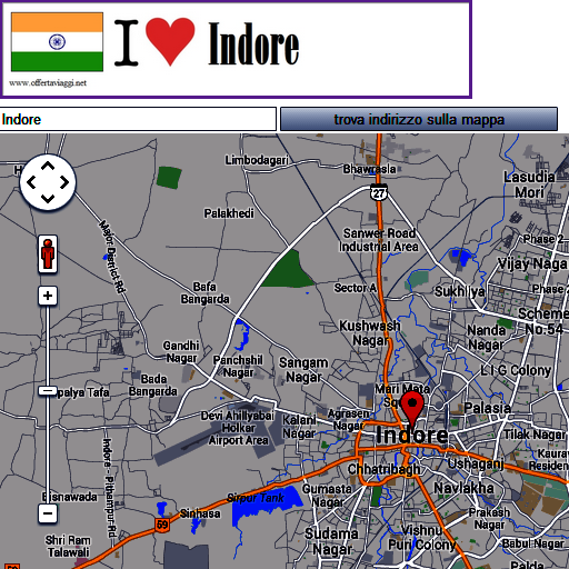 Indore map