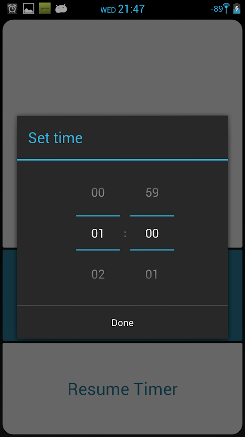 Efficiency Timer- screenshot