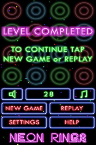 Puzzle Neon Rings - screenshot