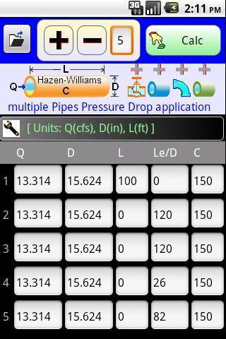 Pressure Drop in multiple pipe