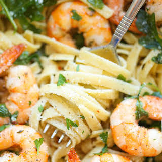 Garlic Butter Shrimp Pasta.