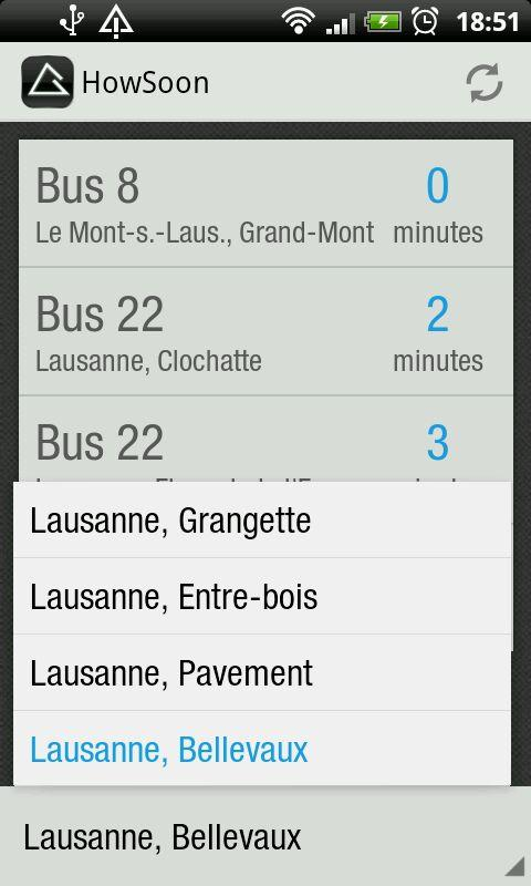 HowSoon:Swiss Public Transport - screenshot