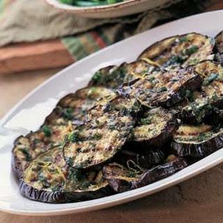 Grilled Eggplant with Marjoram Sauce (Melanzana alla Griglia con Maggiorana).