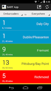 BART App- screenshot thumbnail