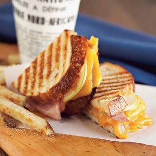 Ham & Pear Panini with Oven-Baked Fries