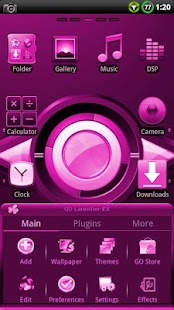 CYANOGEN PINK GO Theme - screenshot thumbnail