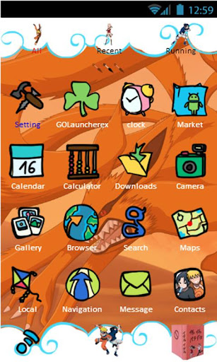 free download of naruto theme launcher for android on mobile9