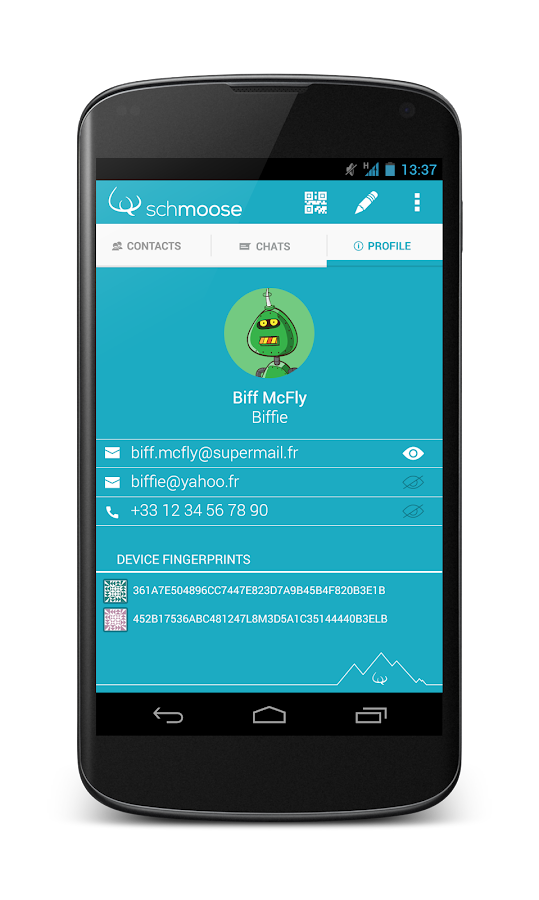 schmoose- screenshot