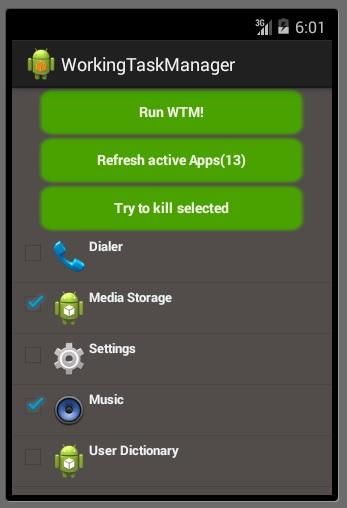 Working Task Manager