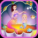 Mermaid birth girls games icon