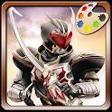 Coloring Kamen Rider icon