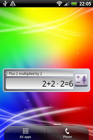 Voice Calculator widget
