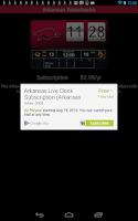 Screenshot of Arkansas Razorbacks Live Clock