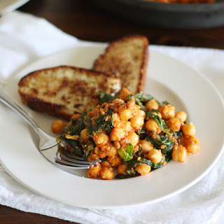 Spinach-Chickpea Saute Recipe