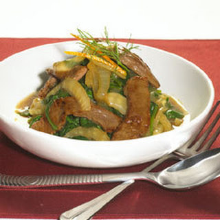 Orange Beef & Caramelized Fennel With Wilted Spinach