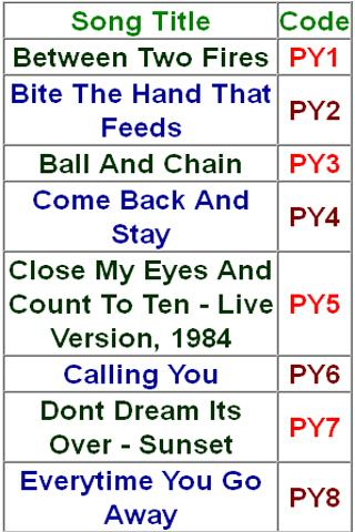 Paul Young Jukebox - screenshot