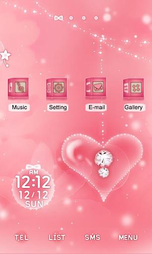 CUKI Themes Shiny Pink Heart