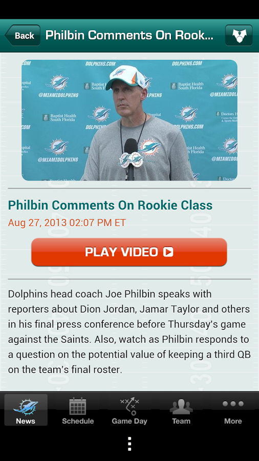 Miami Dolphins 2013 - screenshot