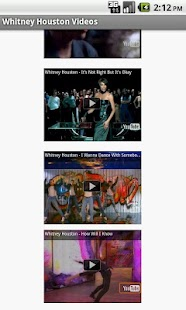 Whitney Houston Videos - screenshot thumbnail