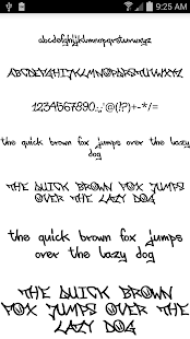 Fonts for FlipFont Graffiti- screenshot thumbnail