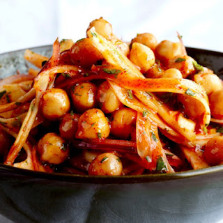 Warm Garbanzo Bean Salad