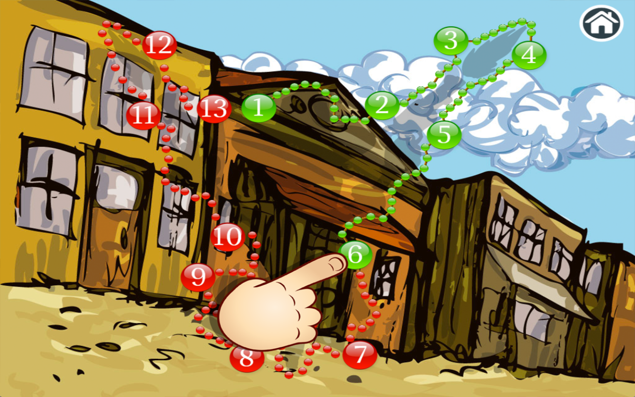 Connect Dots Wild West Edition- screenshot