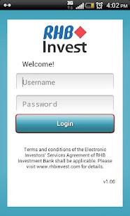 RHBInvest- screenshot thumbnail