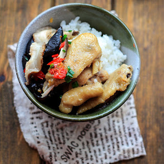 Steamed Chicken with Chinese Mushroom.