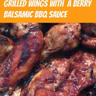 Wings with Berry Balsamic BBQ Sauce