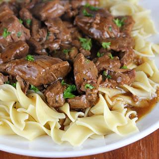 Slow Cooker Beef Tips.