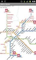 Screenshot of Rome Metro Map