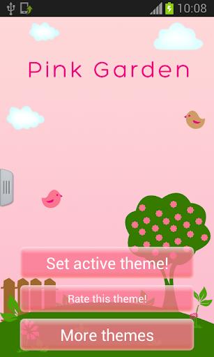 粉紅色花園鍵盤
