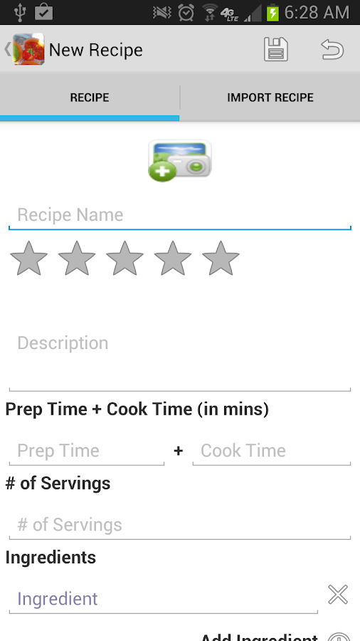 My Recipes - screenshot