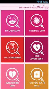 Women's Health Diary screenshot for Android