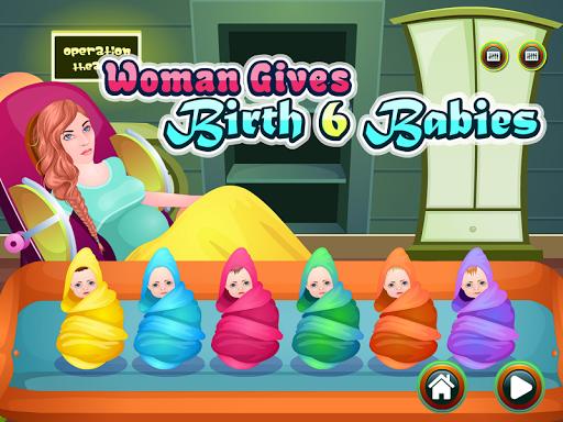 女性の出産の赤ちゃんのゲーム
