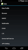 Screenshot of Nexus 5 Field Test Mode
