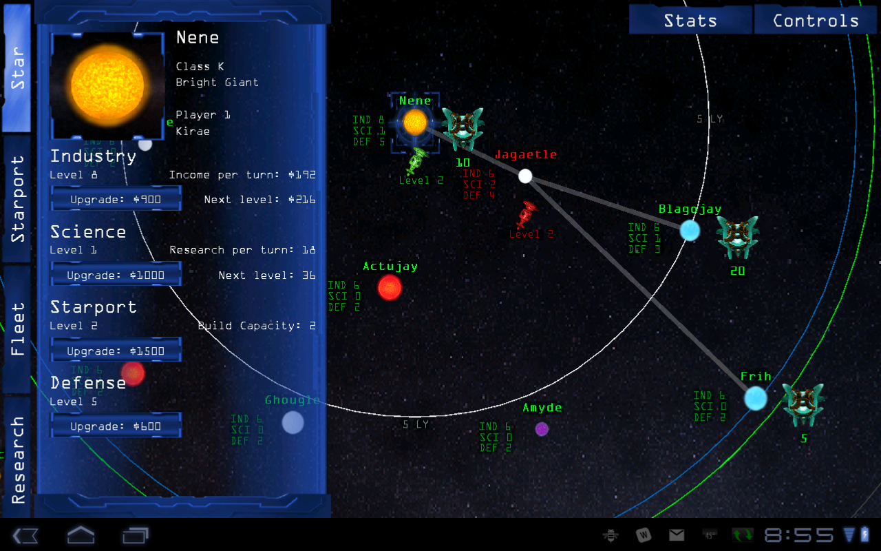 Space War Strategy Game