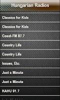 Screenshot of Hungarian Radio Radios