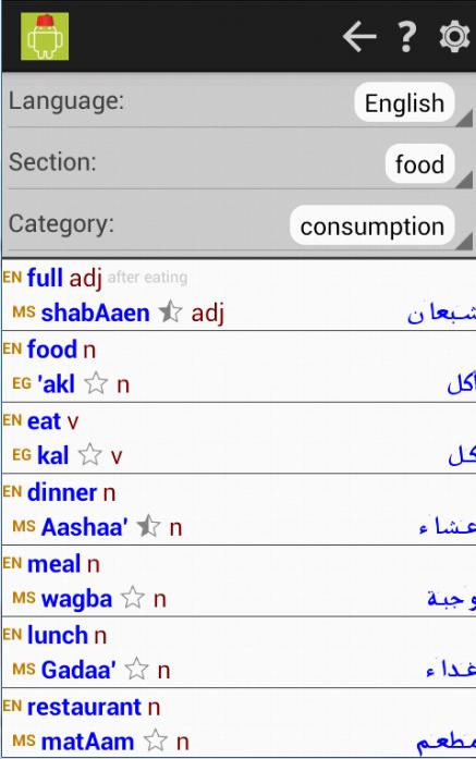 english to egyptian arabic dictionary