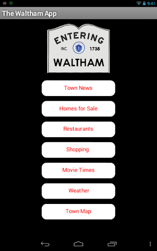 The Waltham App