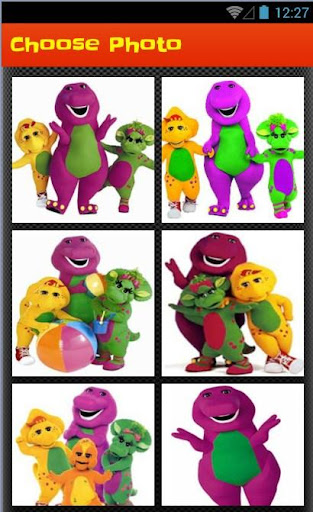 Purple Dinosaur Puzzle